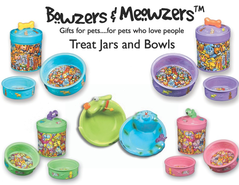 007 Bowzers and Meowzers Collection_TREAT JARS AND BOWLS